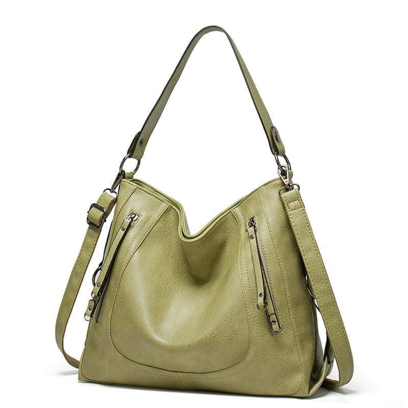 Obangbag Green Women Vintage Big Large Capacity Multifunction Professional Leather Tote Bag Crossbody Bag for Work