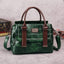 Obangbag Green Women Vintage Crocodile Pattern Leather Handbag Multi Pockets Shoulder Bag