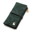 Obangbag Green Women Vintage Multi Layers Daily Leather Long Wallet Clutch