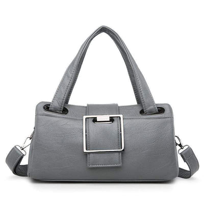 Obangbag Grey Multi Function Shoulder Bag Multi Pocket Vintage iPad Handbag
