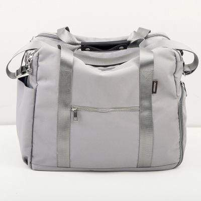Obangbag Grey Multifunctional Large Capacity School Teacher Travel Beach Cloth Tote Bag