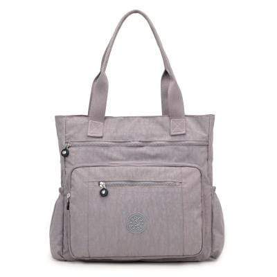 Obangbag Grey Nylon Women's Bag Travel Tag Large Bapacity Luggage Bag Male Handbag