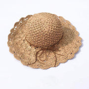 Obangbag Hat / Brown Summer Hand Woven Round Straw Beach Handbag Bohemian Straw Hat