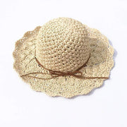 Obangbag Hat / White Summer Hand Woven Round Straw Beach Handbag Bohemian Straw Hat