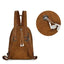 Obangbag Hot Sale Large Capacity Multi Function Pockets Vintage Leather Backpack
