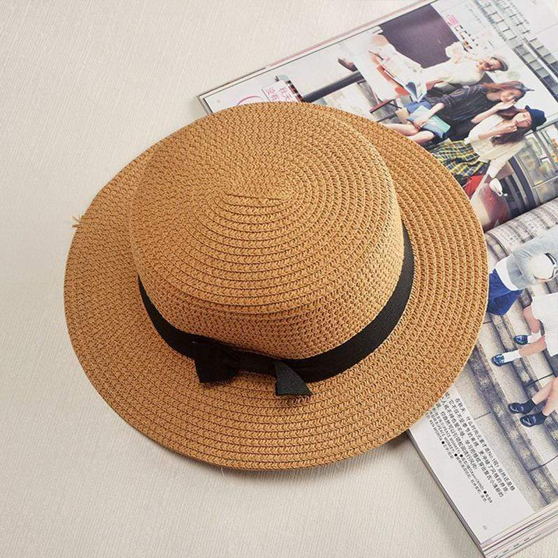 Obangbag Khaki / M 2019 Women Summer Beach Straw Hat