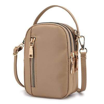 Obangbag Khaki Waterproof Nylon Women Phone Bags Waist Bag Crossbody Bag