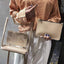 Obangbag Khaki Women Chic Designer Multifunction Clear Transparent Plastic Handbag Tote Bag Crossbody Bag for Work