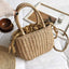 Obangbag Khaki Women Cute Chic Stylish Spring Lightweight Roomy Woven Straw Handbag Crossbody Bag