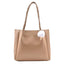 Obangbag Khaki Women Elegant Simple Large Capacity Professional Woven Leather Tote Bag Shoulder Bag