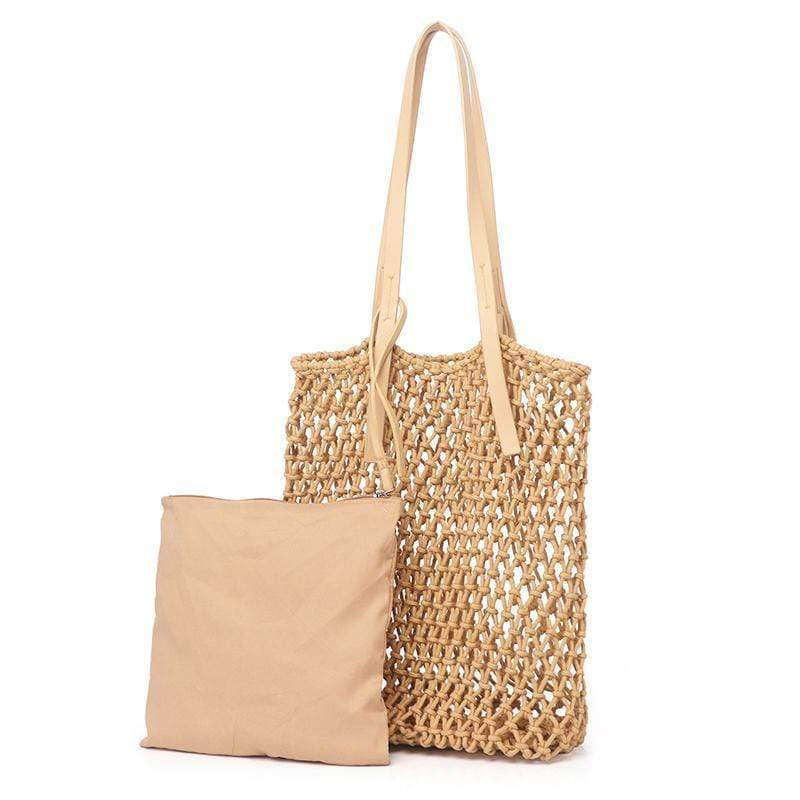 Obangbag Ladies Fashion Mesh Straw Rattan Summer Mini Cute Small Beach Bag Handbag
