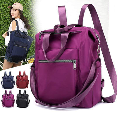 Obangbag Ladies Multi Function Big Waterproof Cloth Tote Work Backpack