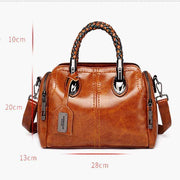 obangbag Ladies Retro Large Capacity Leather Tote Bag Work Shoulder Bag