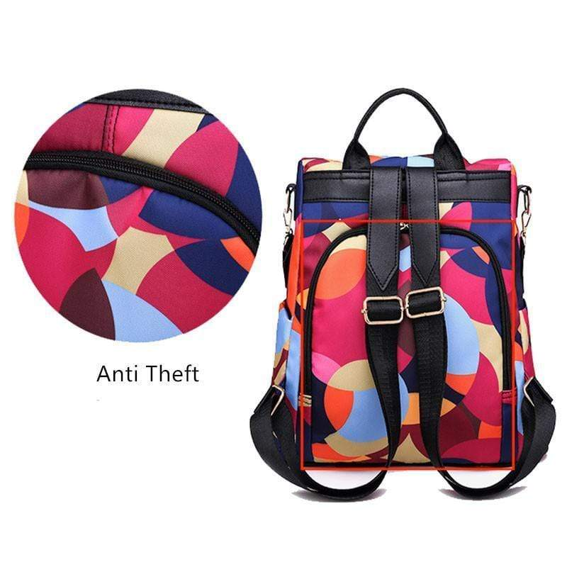 Obangbag Large Capacity Oxford Print Camouflage Pockets Anti Theft Work Backpack