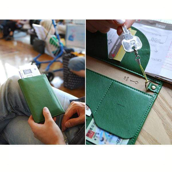 Obangbag Leather Vintage Wallet Ticket Holder