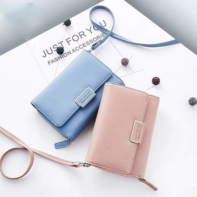Obangbag Leather Wallet Multi Slot Card Women Holder Chic Shoulder Bag