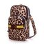 Obangbag Leopard Pattern Women Mini Cute Colorful Multi Pockets Oxford Clutch Bag Shoulder Bag
