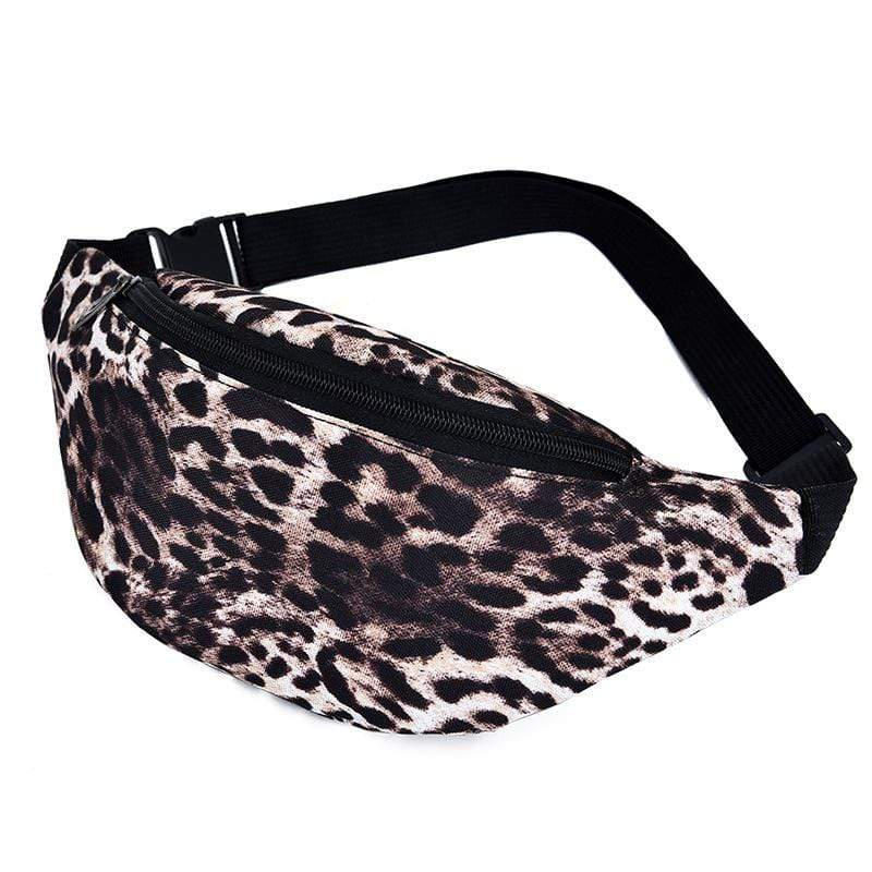 Obangbag Leopard Print Casual Roomy Multifunction Oxford Waterproof Fanny Pack Phone Bag Chest Bag