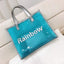 Obangbag Light Blue Women Chic Large Capacity Clear Transparent Spring Summer PVC Tote Bag Bag Set