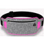Obangbag Light Gray+Rose Red Unisex Casual Simple Multifunction Outdoor Anti-theft Running Lycar Waterproof Fanny Pack for Sport