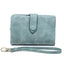 Obangbag Light Green Women Chic Elegant Multi Layers Roomy Lightweight Leather Wallet Clutch Bag