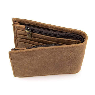 Obangbag Male Men's Retro Vintage Pure Genuine Leather Wallet