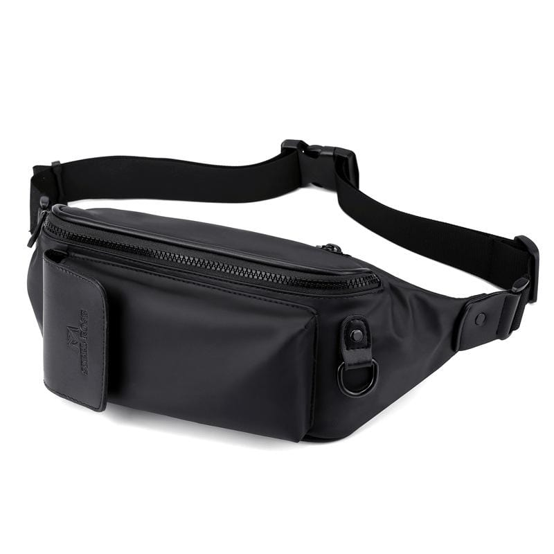 Obangbag Men Chic Multifunction Casual Waterproof Leather Chest Bag Waist Bag Waterproof Fanny Pack