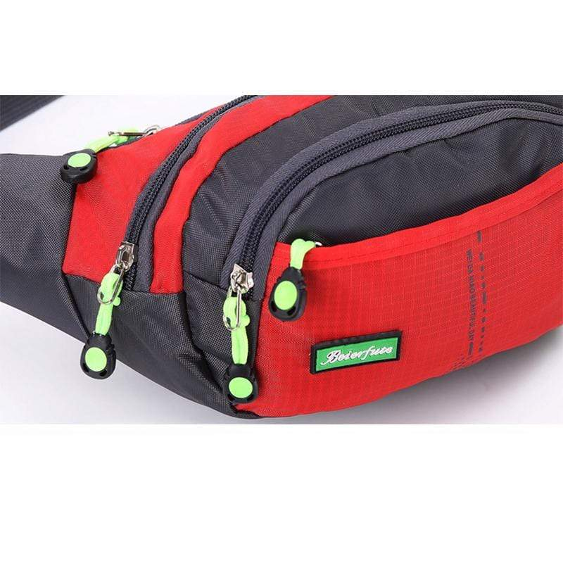 Obangbag Men Large Capacity Multi Pockets Sports Multifunction Outdoors Nylon Waterproof Fanny Pack