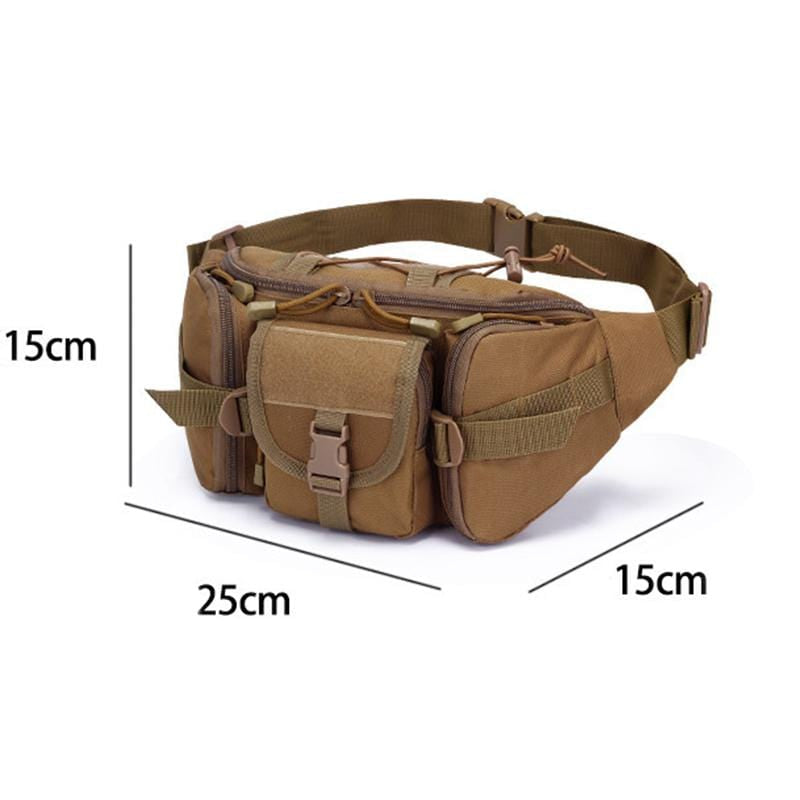 Obangbag Men Multifunction Multi Pockets Roomiy Outdoor Waterproof Waist Bag for Sport