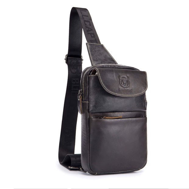 Obangbag Men's Retro Leather Vintage Shoulder Bag Messenger Bag Chest Pack