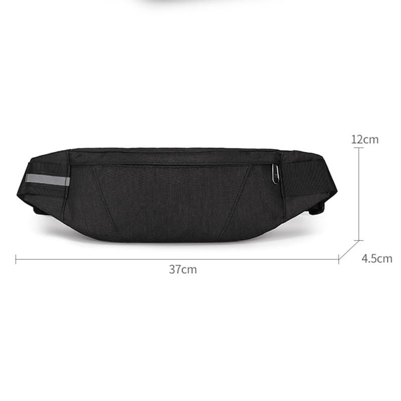 Obangbag Men Stylish Multifunction Roomy Casual Sports Outdoor Oxford Waterproof Fanny Pack Waist Bag
