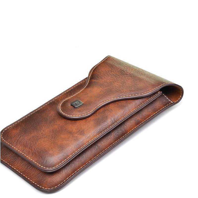 Obangbag Men Vintage Universal Belt Clip Magnetic Holster Case Phone Bag