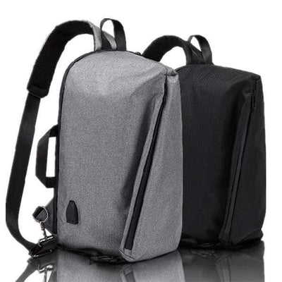 Obangbag Men Waterproof Backpack Anti-theft External USB Charge Outdoor Bag Sling Chest Bag