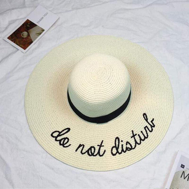 Obangbag Milky white Summer Women Beach Sun Hat