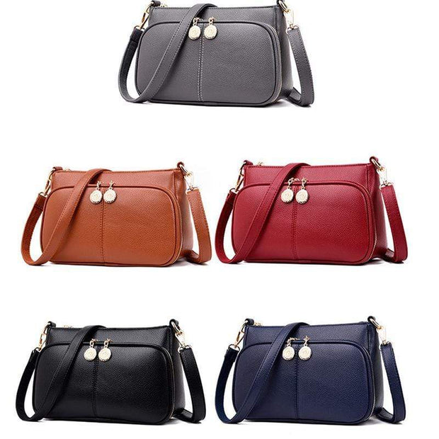 Obangbag Minimalistic Design Multi-layer Zipper Sling Shoulder Bag