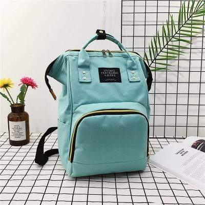 Obangbag Mint Green Women Chic Large Capacity Multi Pockets Multifunction Nylon Backpack for School for Daily