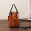 Obangbag Multi Pockets Retro Vintage Classical Oil Wax Leather Handbag