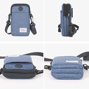 Obangbag Multifunction Phone Bag Outdoor Leisure Pockets Shoulder Bag Multi Layer Mini Bag