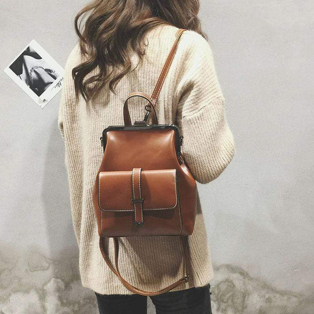 Obangbag Multifunction Retro Vintage Backpack Shoulder Bag Backpack