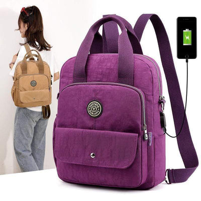 Obangbag Multifunction Travel Backpack Adjustable Strap USB Charging Shoulder Bag