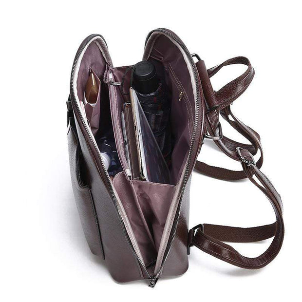 Obangbag Multifunctional Large Capacity Shoulder Bag Genuine Leather Backpack