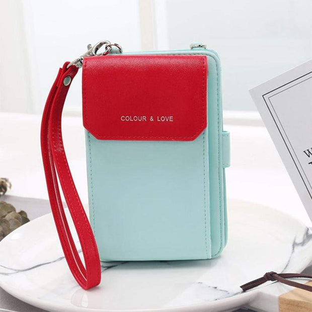 Obangbag Multifunctional Leather Phone Bag Roomy Card Wallet Fashion Shoulder Bag