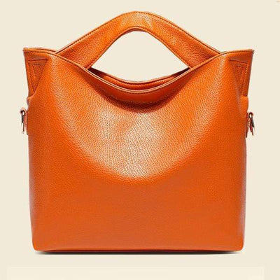 Obangbag orange Fashion Handbag Soft Leather Handbag Shoulder Diagonal Shoulder Bag