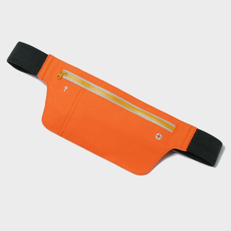 Obangbag Orange Unisex Chic Sports Multifunction Outdoor Running Lycar Waterproof Fanny Pack Waist Bag
