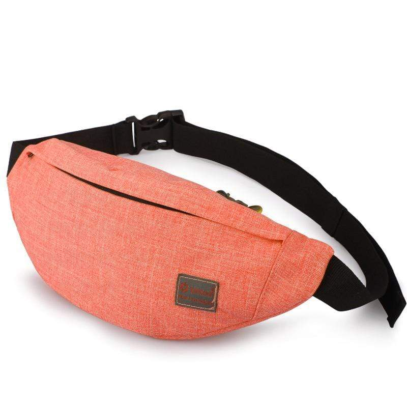 Obangbag Orange Unisex Lightweight Multifunction Casual Sports Outdoor Waterproof Fanny Pack Phone Bag