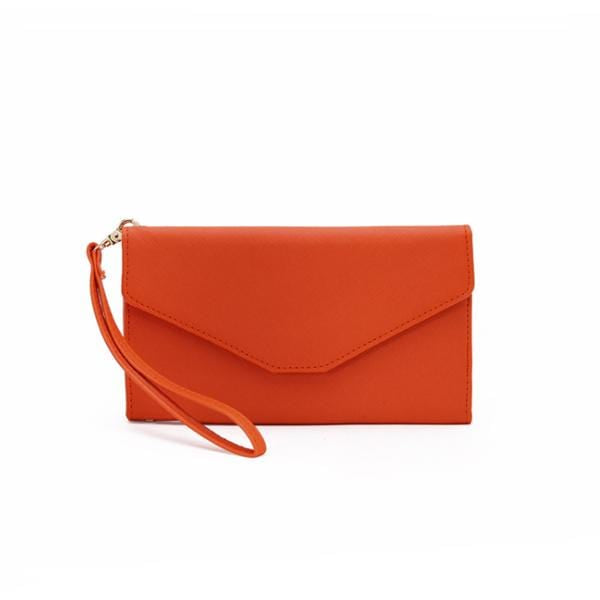 Obangbag Orange Women Chic Stylish Cute Multi Pockets Wallet Purse Card Holder