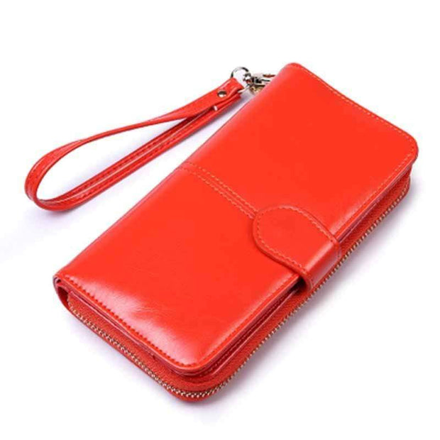 Obangbag Orange Women Faux Leather  Long Clutch Bag Wallet Card Holder