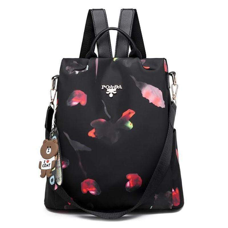 Obangbag petal Large Capacity Oxford Print Camouflage Pockets Anti Theft Work Backpack