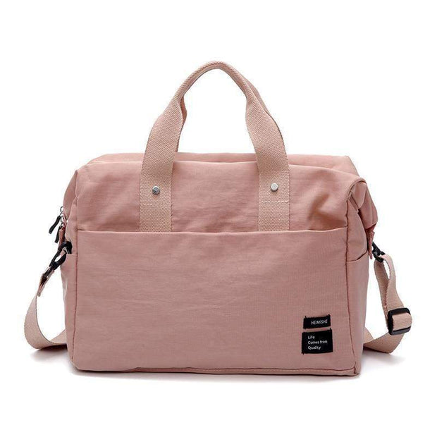 Obangbag Pink Multifunctional Large Capacity Handbag Messenger Bag Luggage Bag Travel Bag