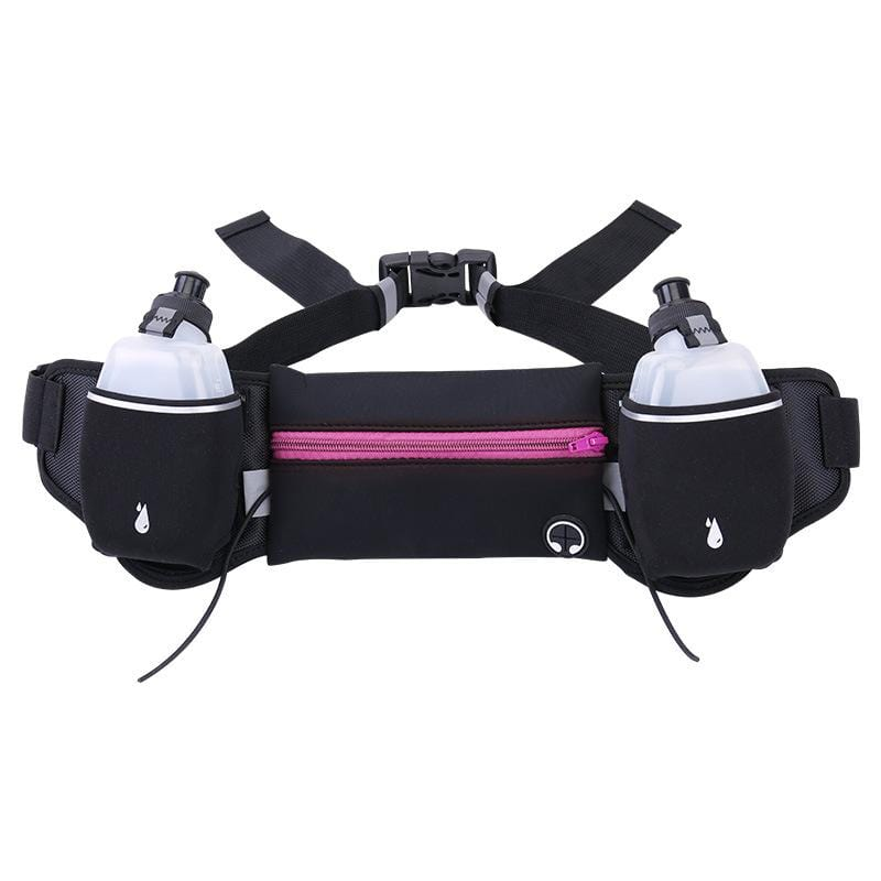 Obangbag Pink Unisex Chic Large Capacity Lightweight Sports Outdoor Bottle Anti-theft Multifunction Waterproof Fanny Pack